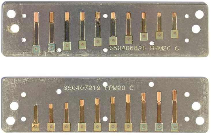 Suzuki RP-M-20-D Replacement Reed Plates for Manji Harmonicas, Key of D