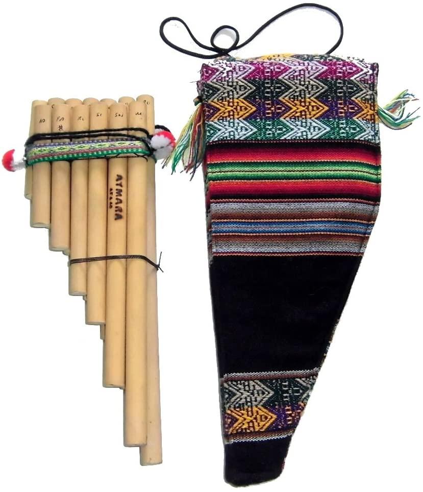 Alpakaandmore Peruvian Pan Pipe Bamboo Beginner Instrument Tuned