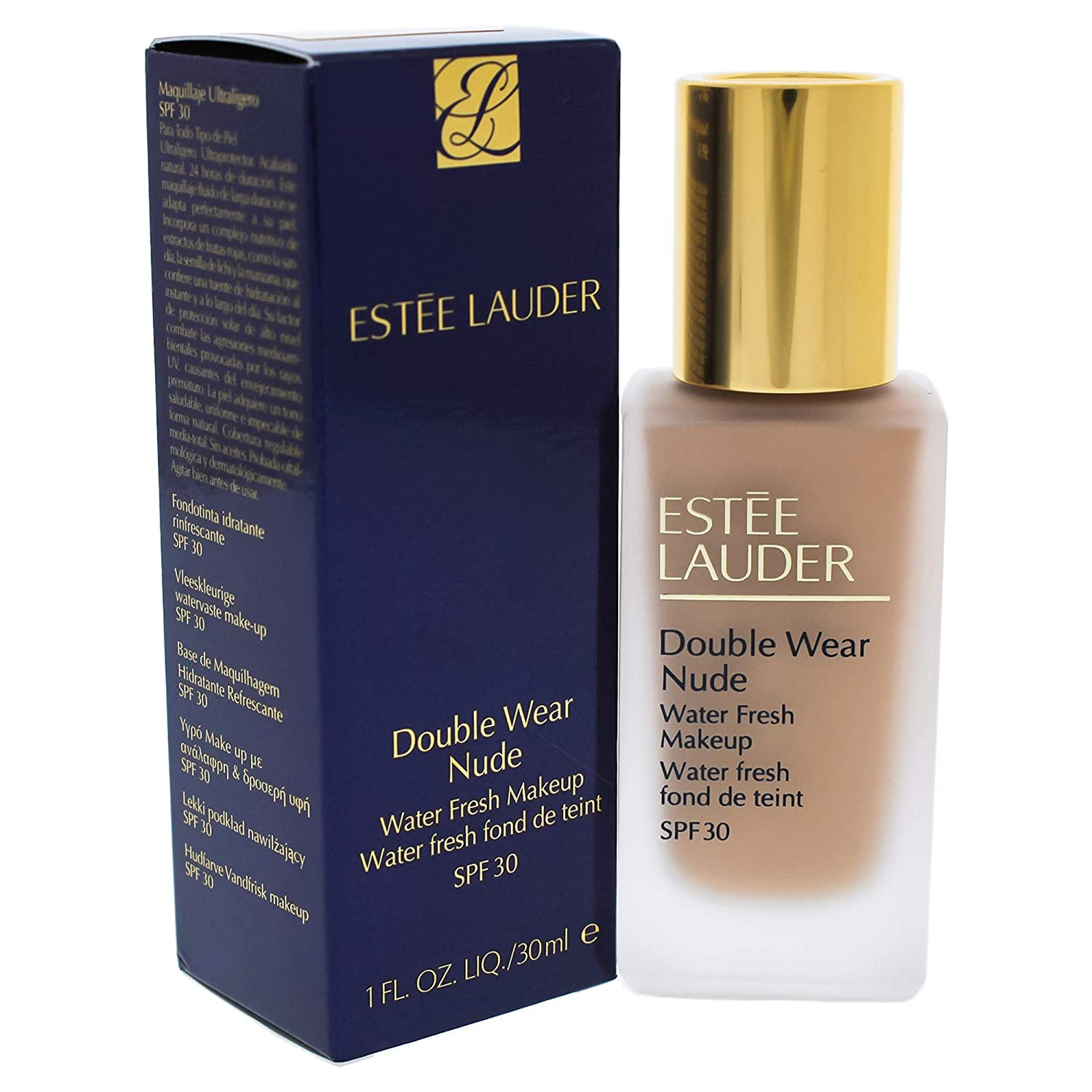 Estee Lauder Double Wear Nude Water Fresh Makeup Spf 30, 3n1 Ivory Beige, 1 Ounce