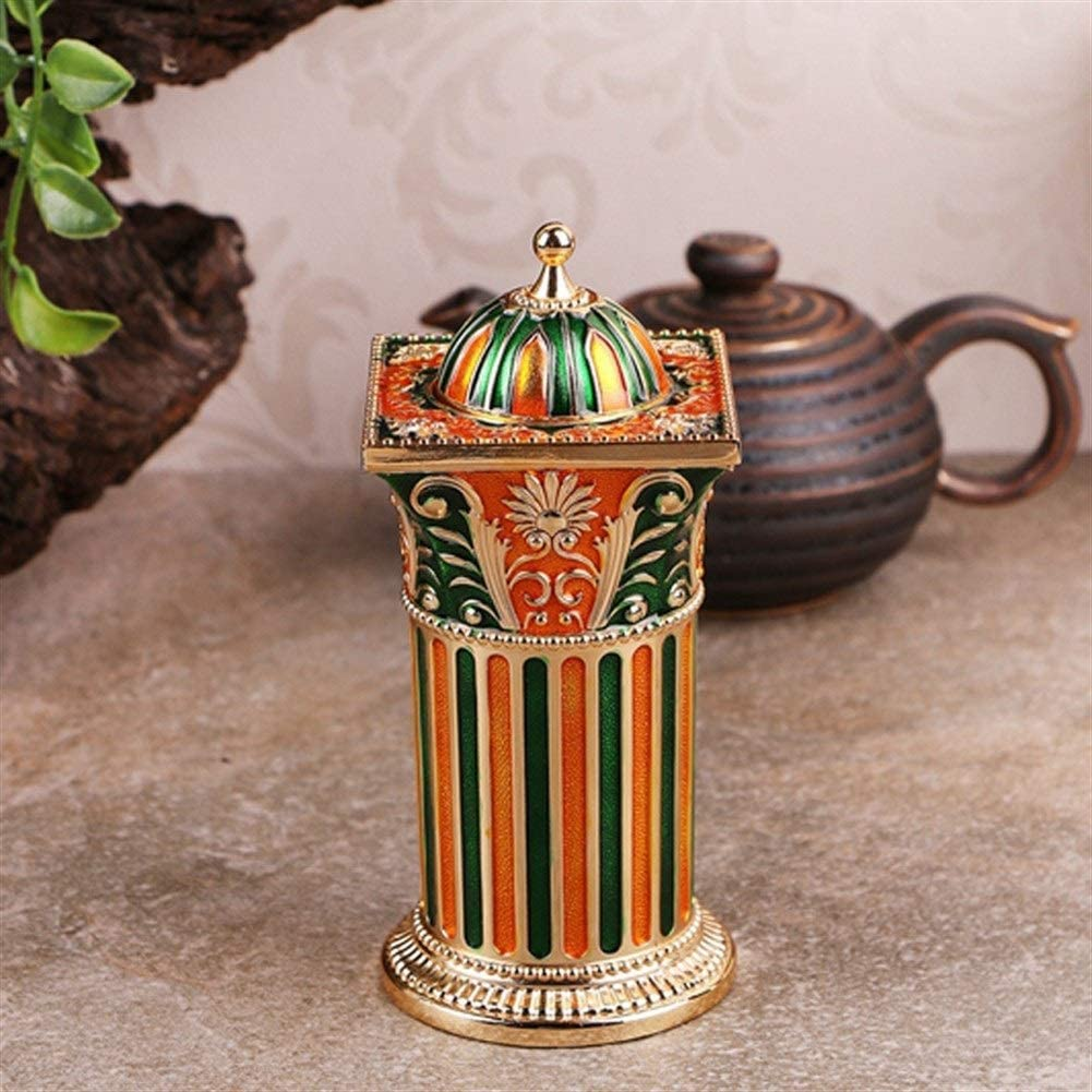 Toothpick Holder toothpick box automatic presses fashion novelty gift household goods (Color : Orange, Size : 5.6X5.6X12.6CM)
