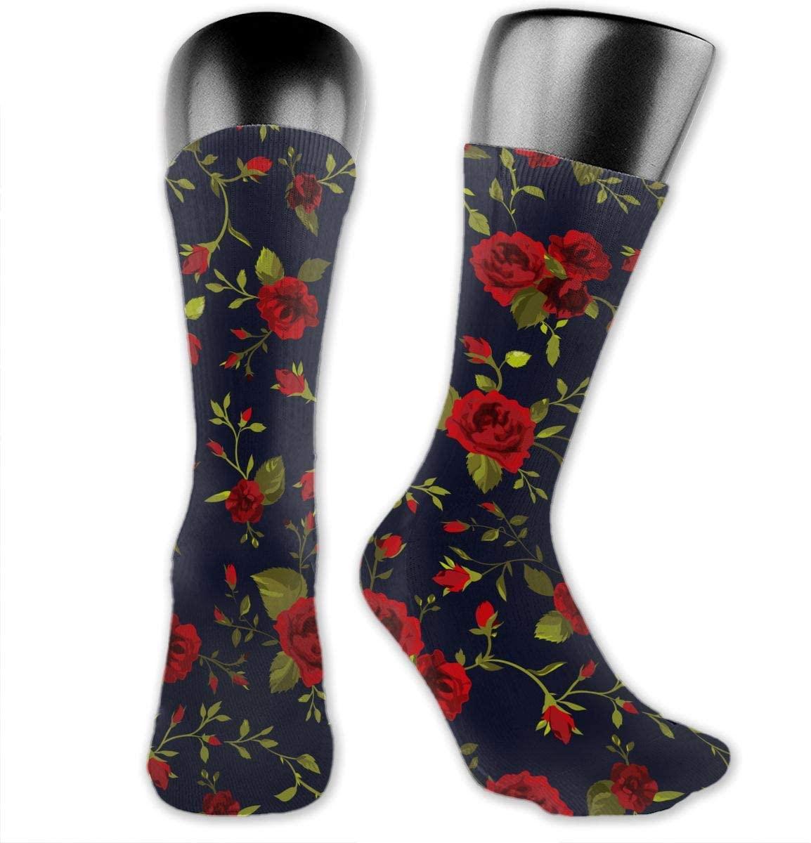 Rose Leaves Unisex Outdoor Long Socks Sport Athletic Crew Socks Stockings