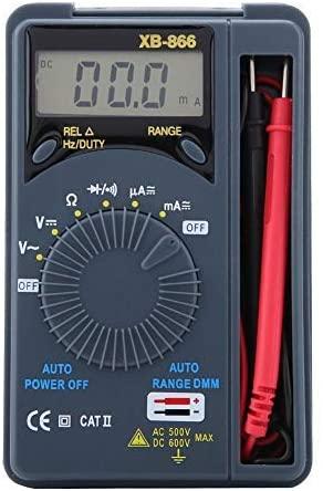 Mini digital multimeter, XB-868 Automatic range Pocket digital multimeter to measure current voltage Diode Triode Frequency Capacitance Multiple tester