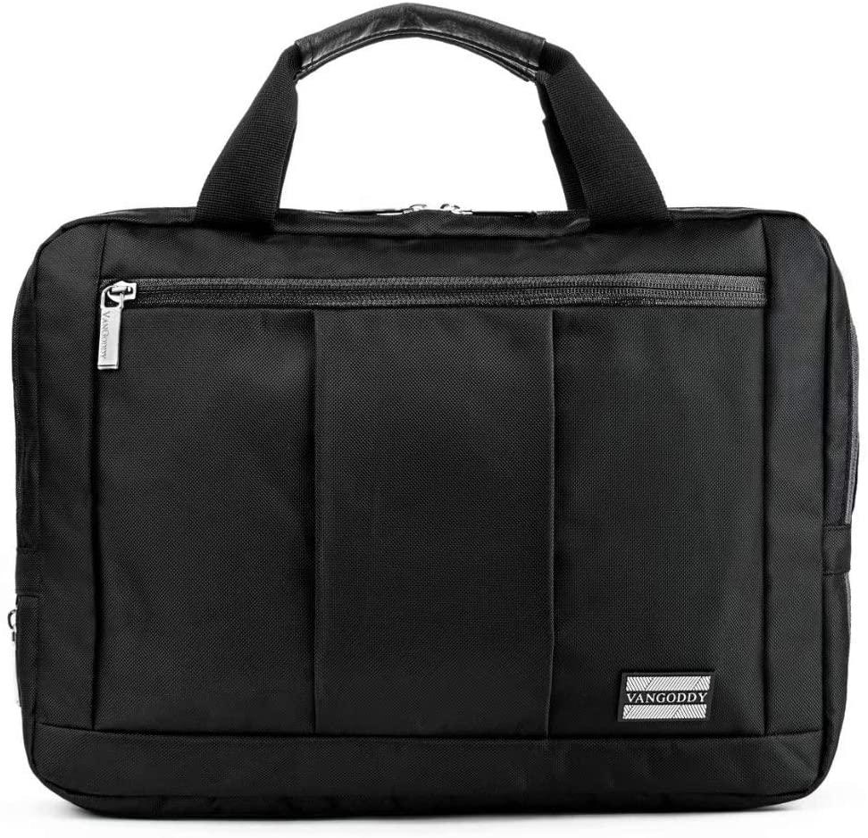Laptop Hybrid Shoulder, Messenger Agua Bag for Google Chromebook Series, Pixelbook Series, Laptops up to 13.5 inches (Black)