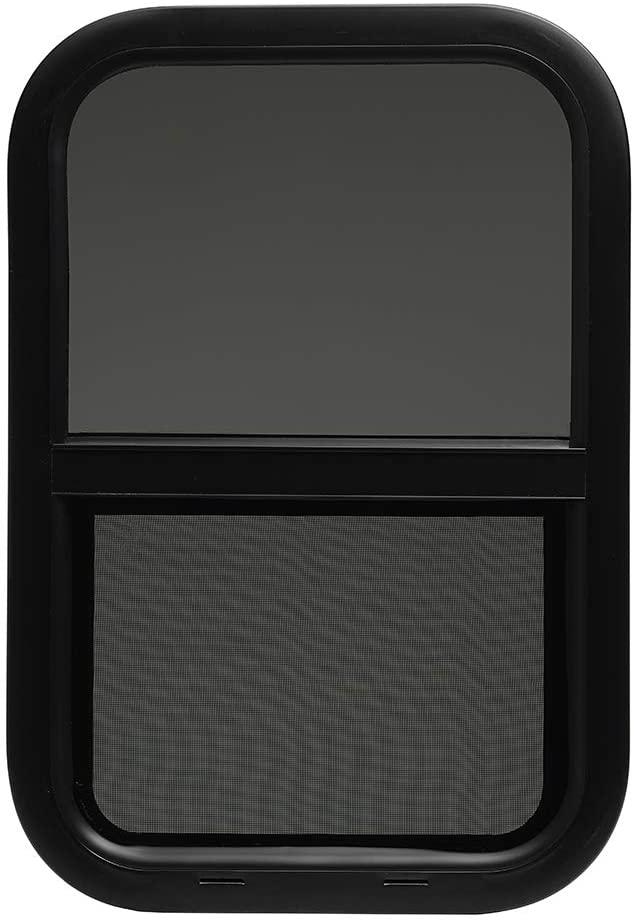 ToughGrade Vertical Sliding Black RV Window 12