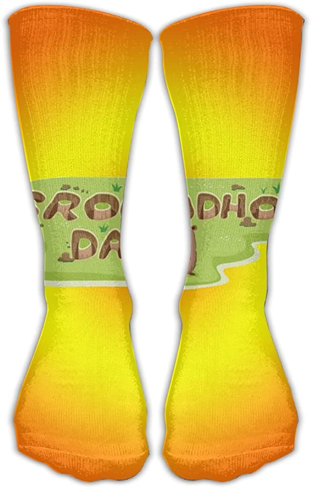 JINYOUR Cute Groundhog Day Women's Casual Athletic Stockings 30CM Long Socks