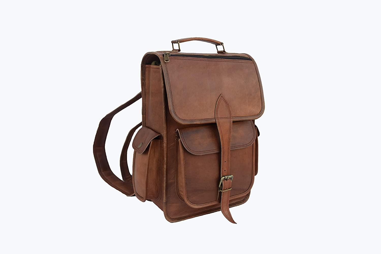 Vintage Leather Laptop Backpack 13 Inch MacBook Pro/Air Bag Rucksack Shoulder Bag