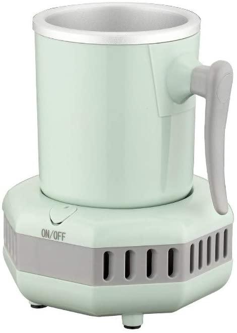 Smart Beverage Cooler Cup 380ML Fast Cooler Electric Cooling Mug Cup Portable Mini Desktop Refrigerator with Food-Grade Aluminum Mug - One Button On - for Beer Cola Water Milk Wine Drink