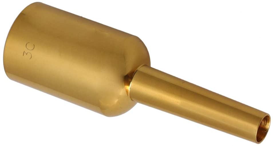 Mxfans Gold Plated Trumpet Mouthpiece Brass Instrument Series 3c