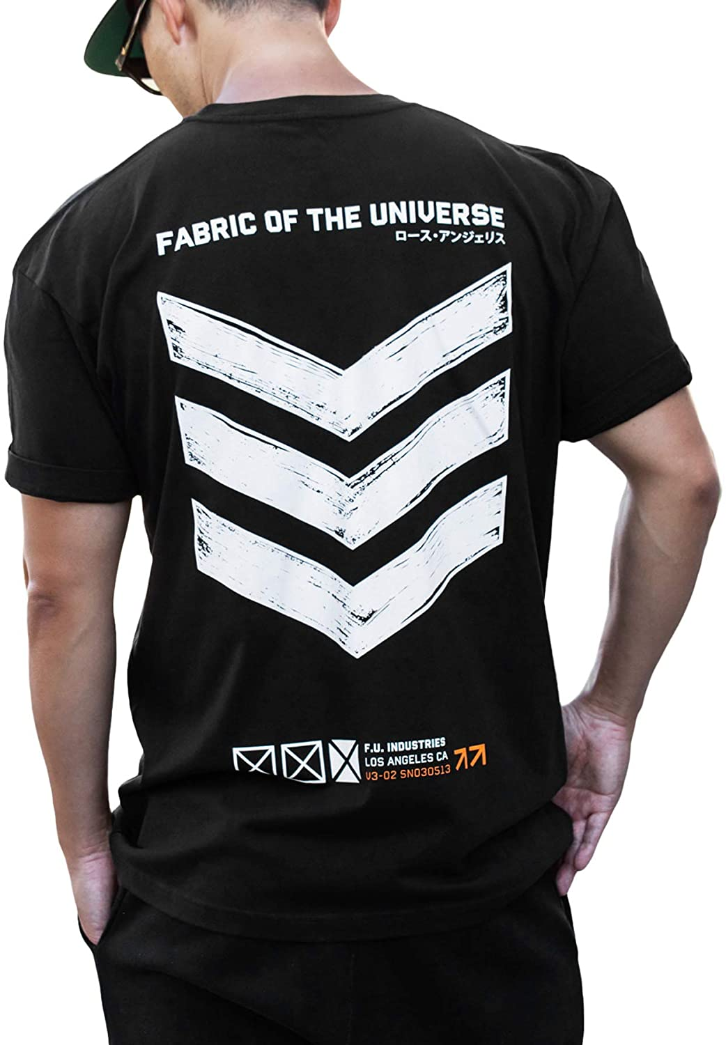 Fabric of the Universe Japanese Streetwear Techwear Graphic Fashion Short Sleeve T-Shirt