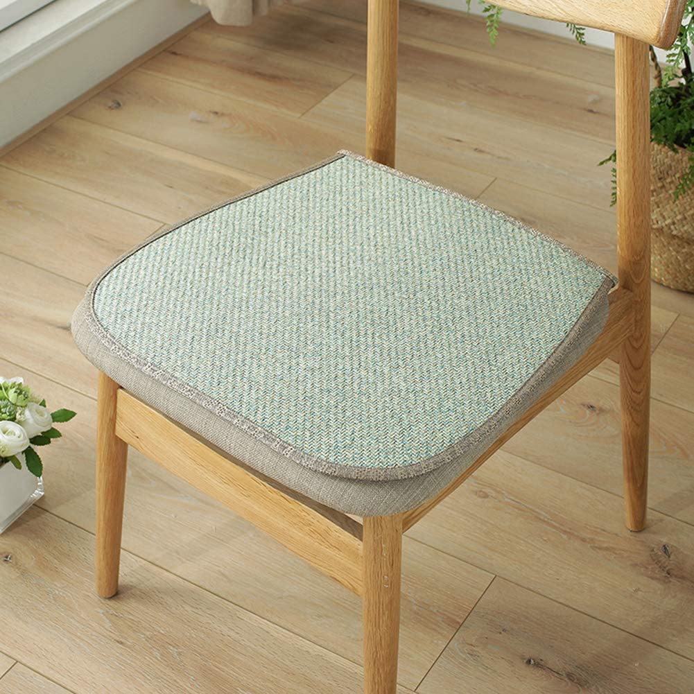 Studyset Chair Pad, Comfortable Chair Cushion,Simple Rattan Cooling Mat for Kitchen Office Chair 404045cm Green
