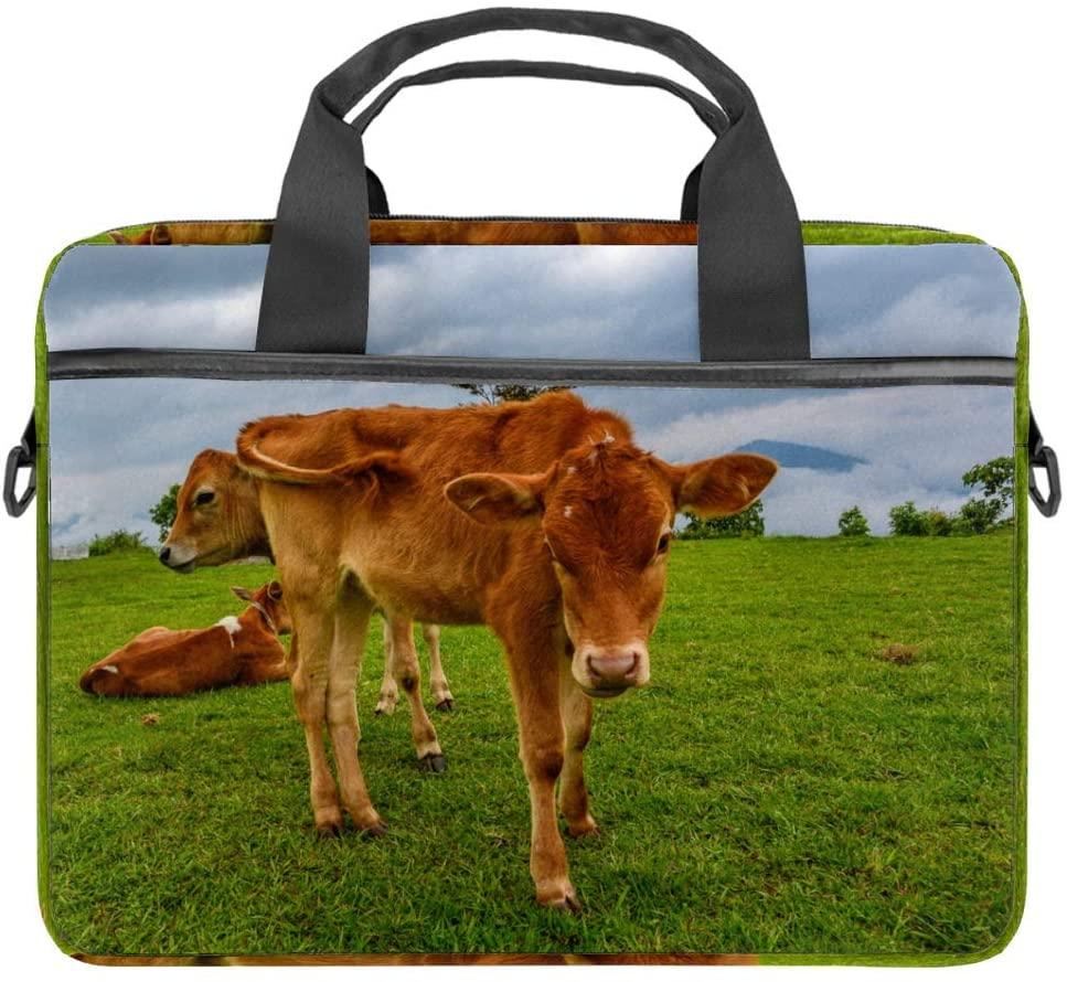 Laptop Briefcase 14.5 Inch Farm Hayfield Agriculture Grass Print