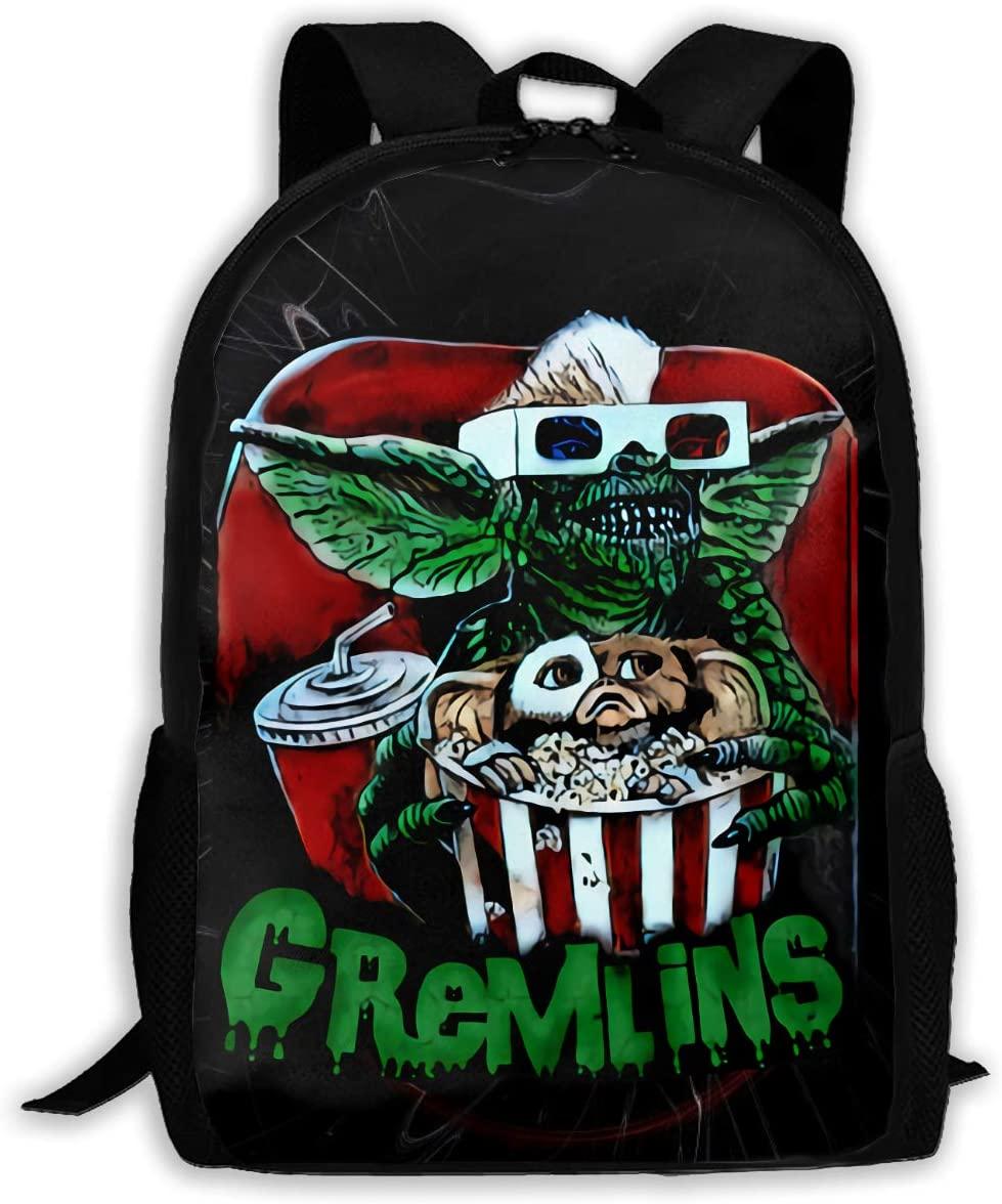 Ssxvjaioervrf Gremlins Rucksack Laptop Backpack Casual Day Packs for School Travel Hiking