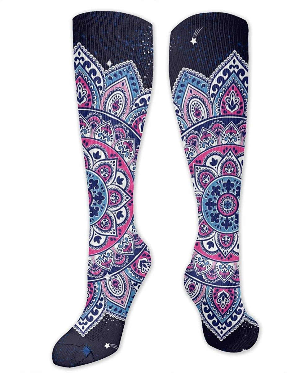 Indian Floral Paisley Athletic Socks Thigh Stockings Over Knee Leg High Socks