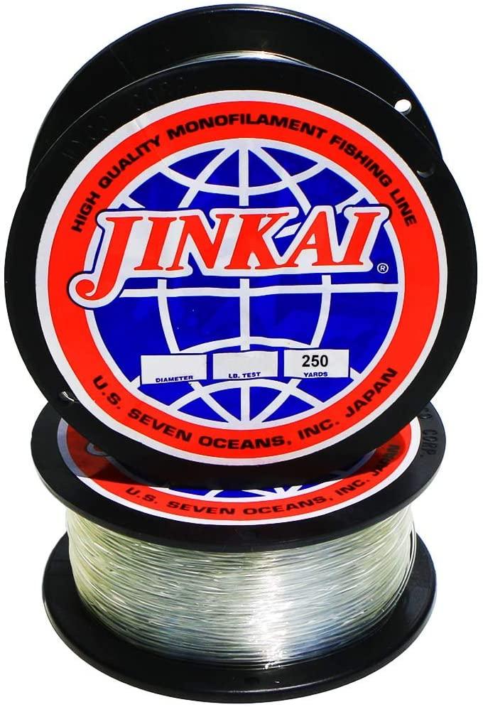 Jinkai Premium Monofilament - 250yd Spool - 6lb-50lb - Crystal Clear