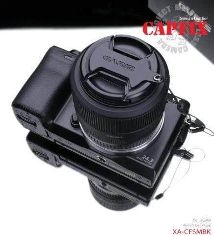 Gariz Genuine Leather XA-CFSMBK Camera Cap Fixs for Sigma 46mm Lens Cap, Black