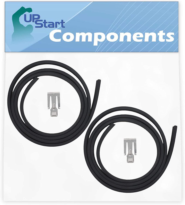 2-Pack W10542314 Dishwasher Door Gasket Replacement for Whirlpool GU2455XTSB3 Dishwasher - Compatible with W10542314 Door Seal - UpStart Components Brand