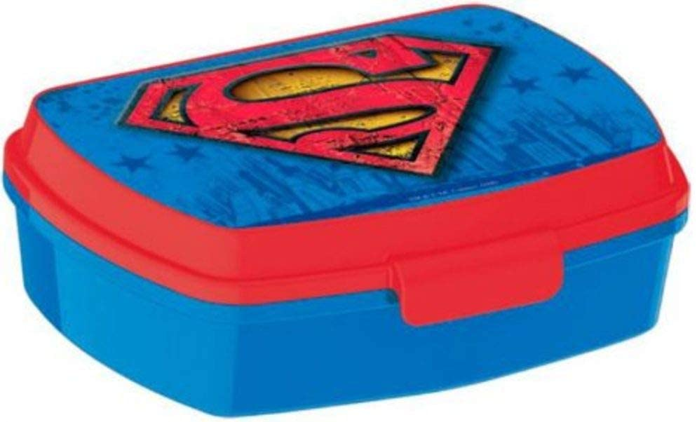 character Superman Lunch Box Rectangular Small Sandwich