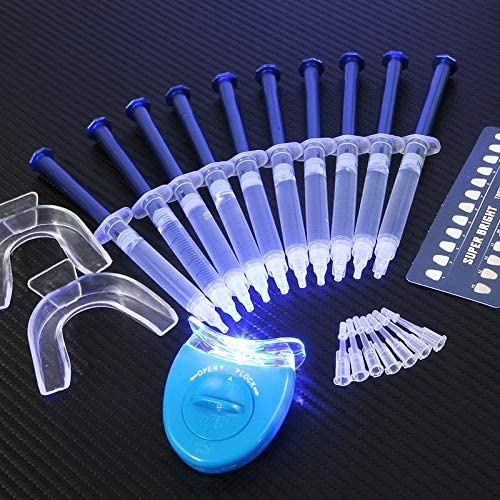 ARONG Non-Sensitive Dental Peroxide Teeth Whitening Kit Tooth Bleaching Gel Kits Dental Brightening Dental Equipment Oral Hygiene Enjoy Teeth Whitening Treatment at Home. (Color : 4 pcs kit)
