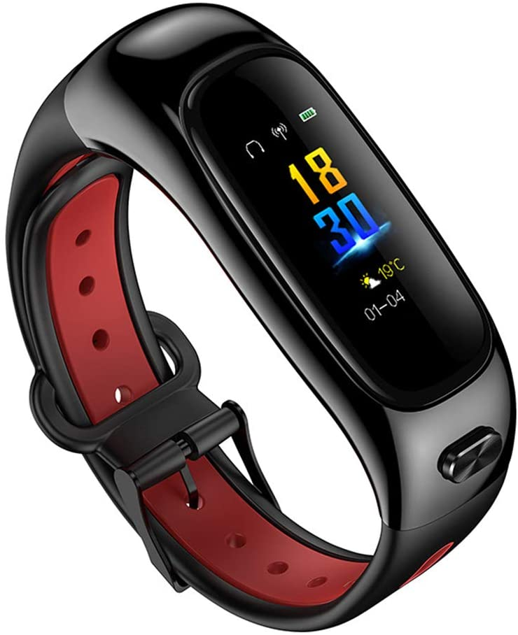 Lee Lam Fitness Tracker Blood Pressure Smart Watches Fitness Watch with Heart Rate Monitor Waterproof Watch Compatible with iOS, Android,red