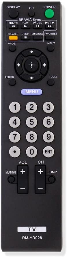 New RM-YD028 Replace Remote Control fit for Sony Bravia KDL-46VE5 KDL-46VL150 KDL-52S5100 KDL32L5000 KDL46S5100 KDL32XBR9 KDL52V5100 KDL46V5100 KDL52S5100 KDL32S5100 KDL40V5100 KDL26L5000