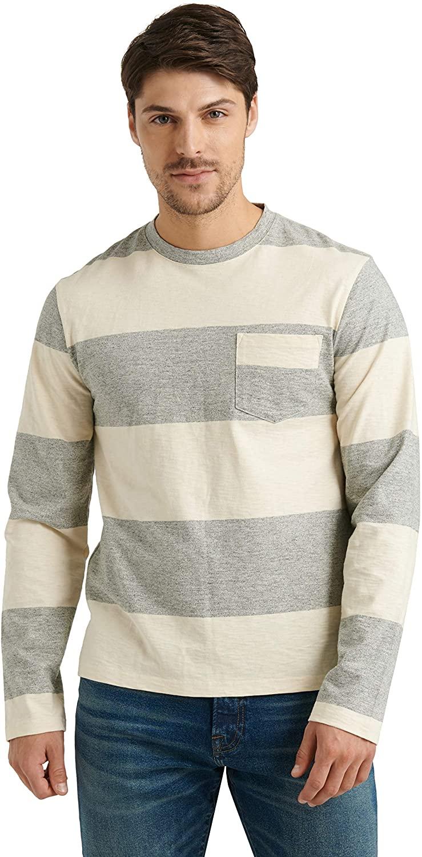 Lucky Brand Men's Long Sleeve Crew Neck Jersey Stripe Tee