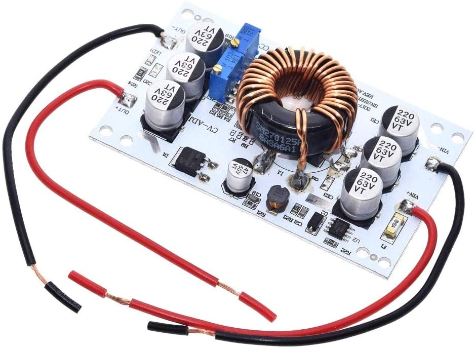 QinMei Zhou 600W Aluminum Plate DC-DC Boost Converter Adjustable 10A Step Up Constant Current Power Supply Module Led Driver