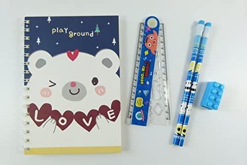 PartyErasers Kawaii White Bear Notebook Set