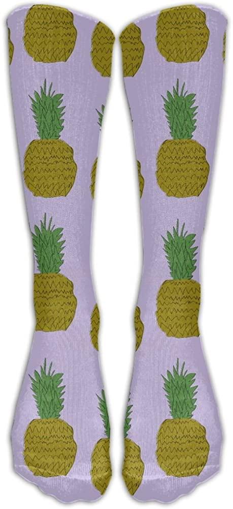 PIOL Men&Women Colorful Pineapple Printed Crew Socks Warm Over Boots Stocking Trendy Long Socks.