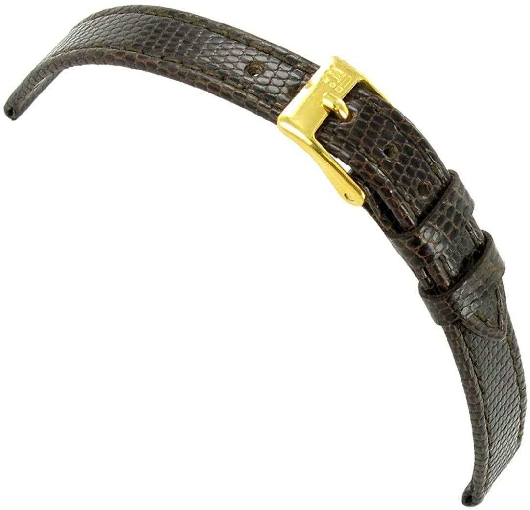 10mm Morellato Genuine Lizard Flat Stitched Brown Ladies Watch Band Regular 858