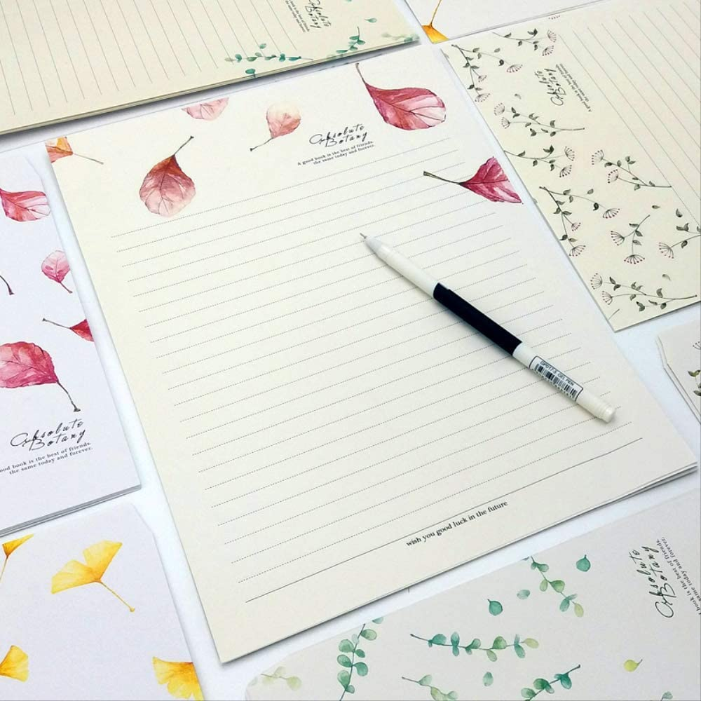New Love Letter Table Confession letterhead Literary Beauty Xiaoqing Leaves Lettering Envelope Set