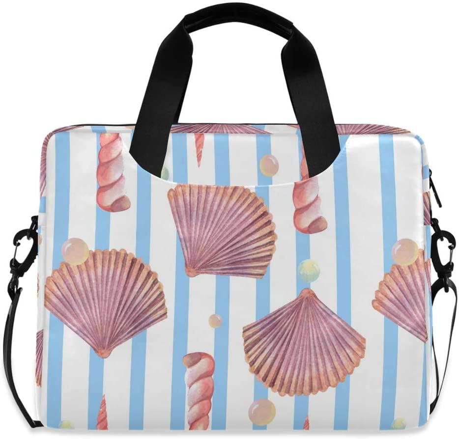 Laptop Bag Briefcase Shoulder Bag - Sea Life Pearl Shellfish 15.6 Inch Tote Bag Laptop Messenger Shoulder Bag Carrying Shoulder Handbag, Great to Business, Office