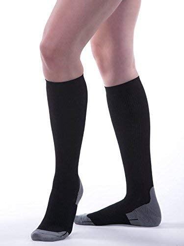 Allegro 15-20mmHg Athletic 387 Recovery Socks (Black) X-Large