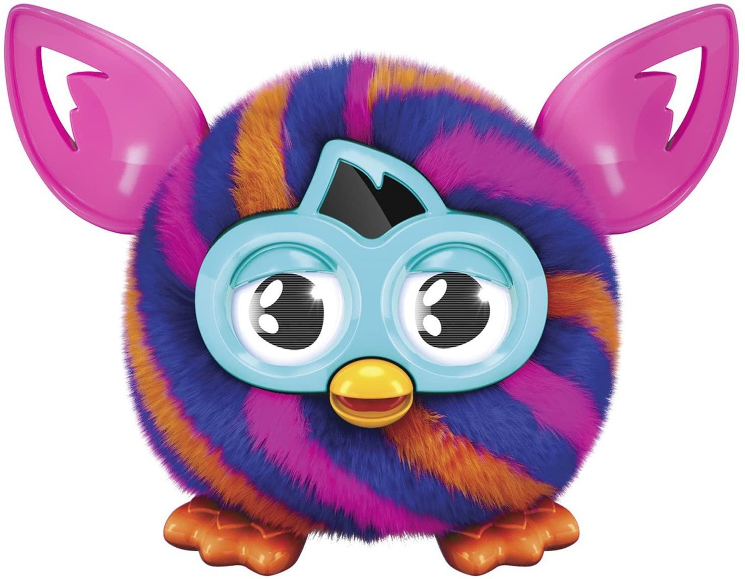 Furby Furbling Critter (Orange and Blue Diagonal Stripes)