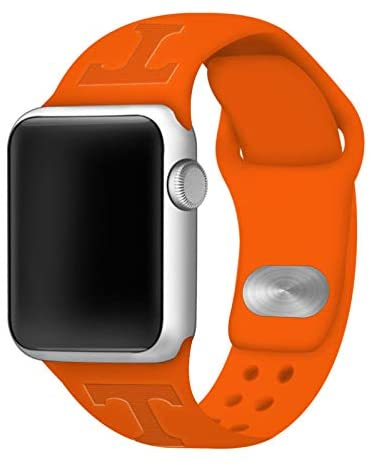 AFFINITY BANDS Tennessee Volunteers Debossed Silicone Watch Band Compatible with Apple Watch - 42mm/44mm Orange