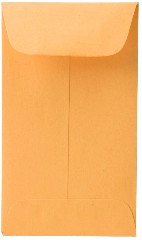 JAM PAPER #3 Coin Envelope - 2 1/2 x 4 1/4 - Brown Kraft Manila - 100/pack