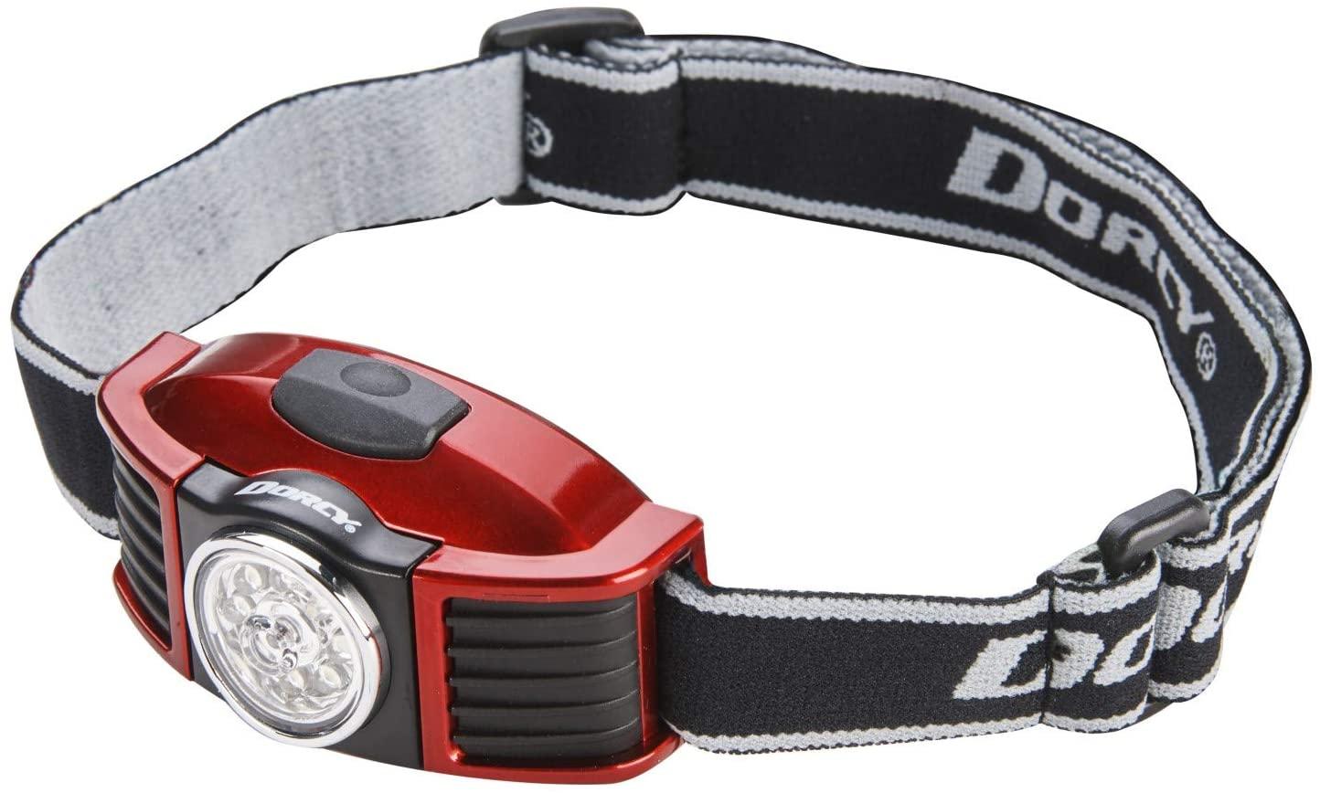 Dorcy 100-Lumen Weather Resistant Adjustable LED Headlight with Adjustable Head Strap, Black and Blue (41-2093)