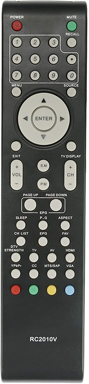 New RC2010V Remote Control fit for VIORE TV LC37VF56 LC32VF56 LC26VF56 LC24VF56 LC22VF56 LC32VH70 LC42VF56 LC32VH56A LC26VH56 LC19VF56 LC37VH70M LC16VH56 LC22VH56PB LC19VH54PB LC22VH70 LC32VH70M