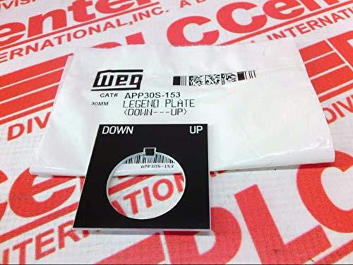 WEG APP30S-153 30MM Legend Plate & Holder - Down UP