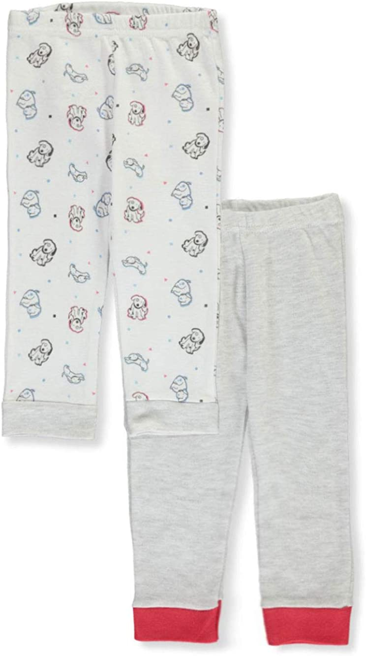 SGS International Sweet & Soft Baby Boys' 4-Pack Knit Pants - White/Multi, 6-9 Months