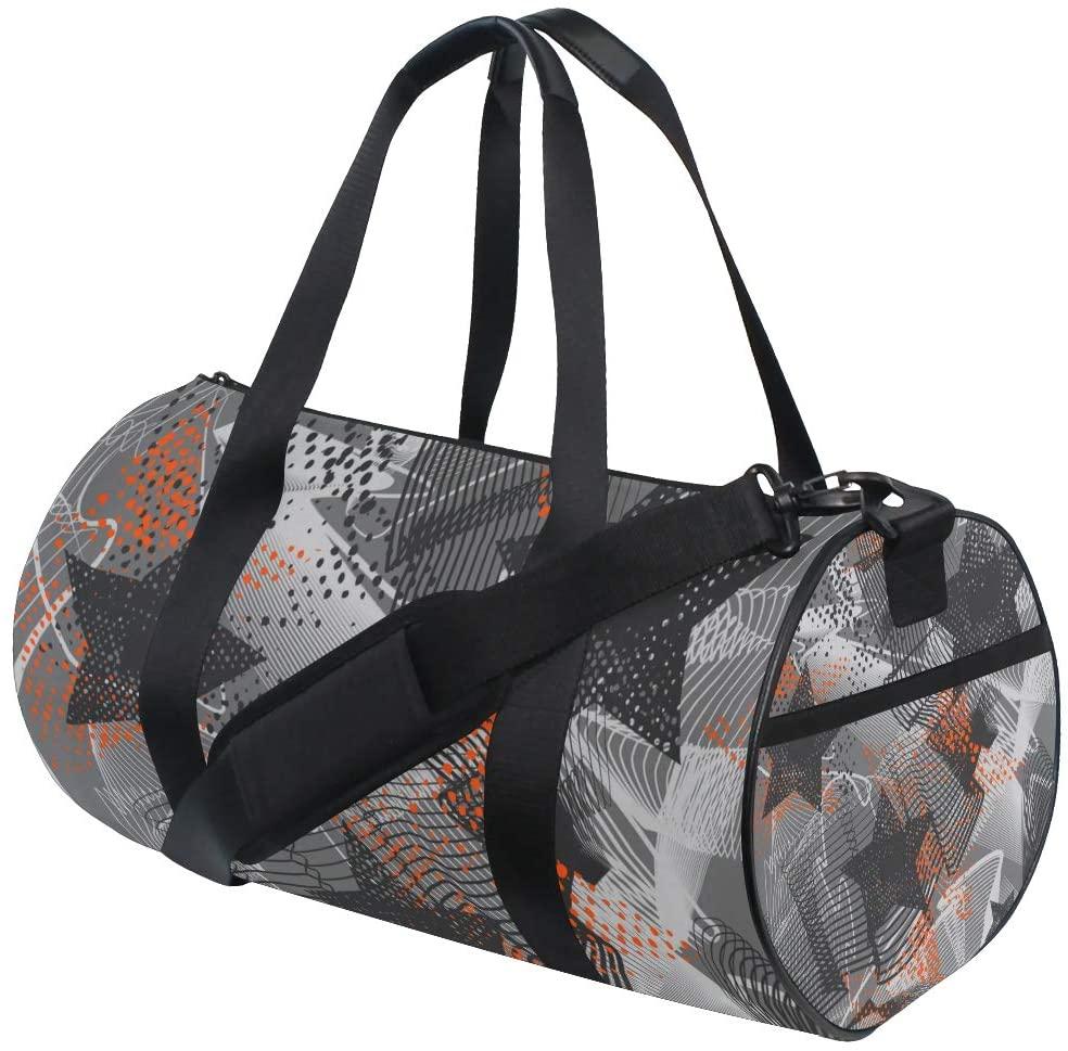 ADONINELP Travel Duffel Bag,Lightweight Durable Designed Gym Sports Bag Fashion Print Weekender Bag Large,Abstract Seamless Stars Pattern Sport Textile