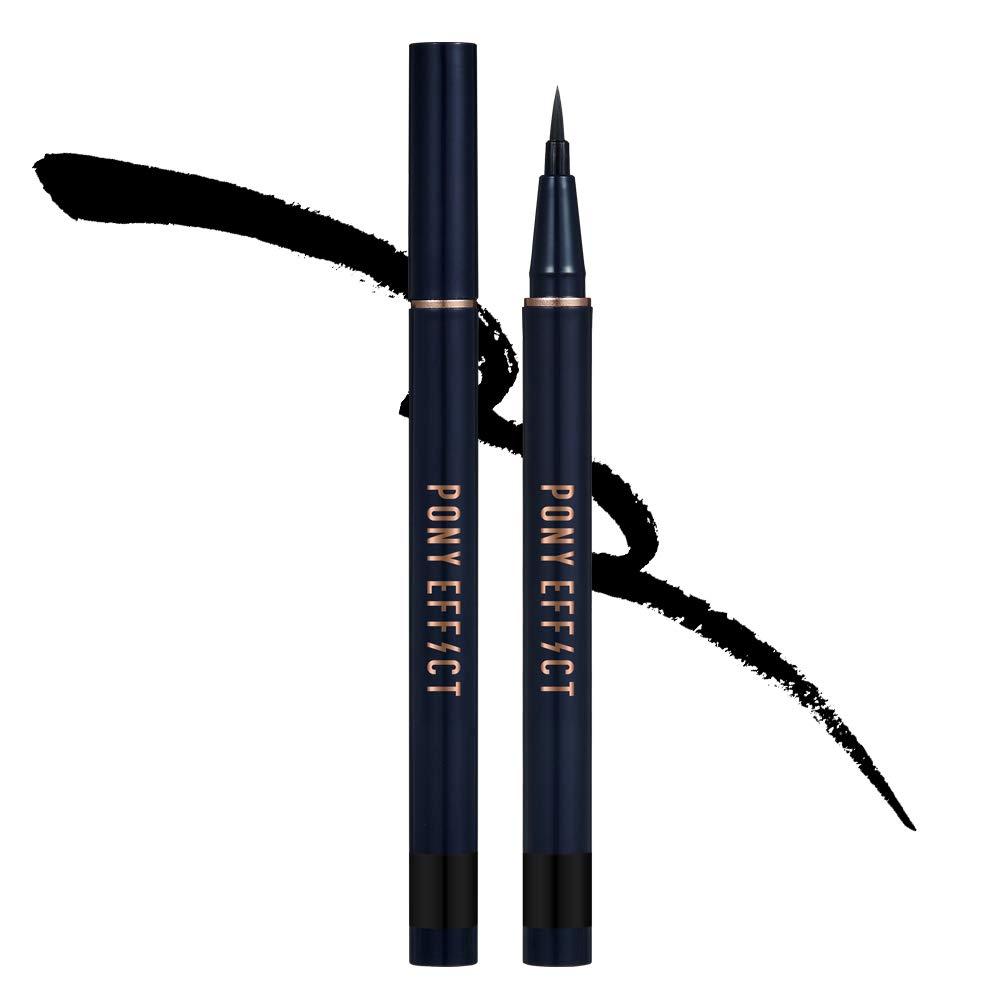 PONY EFFECT Profection Brush Eyeliner   Smudge Proof Liquid Eyeliner   K-Beauty