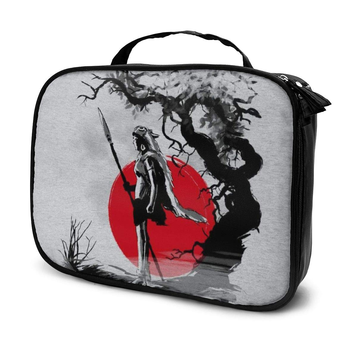 Makeup Bag Cosmetic Pouch Princess Mononoke Forest Protector Sumie Multi-Functional Bag Travel Kit