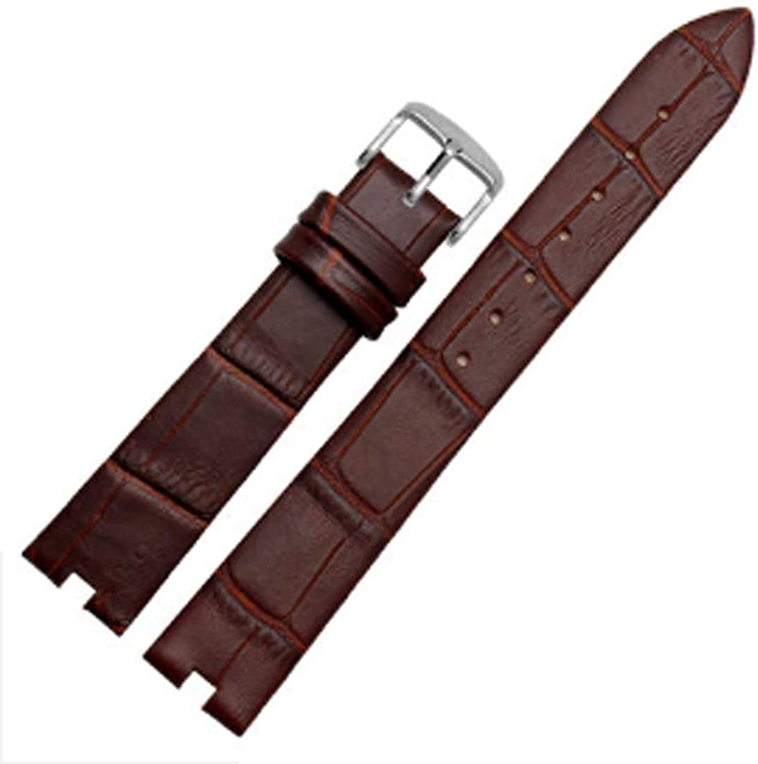[Richie Strap]16mm x 4mm Elegant Women Leather Watch Strap Band Deployment Clasp for Omega De Ville Buckle