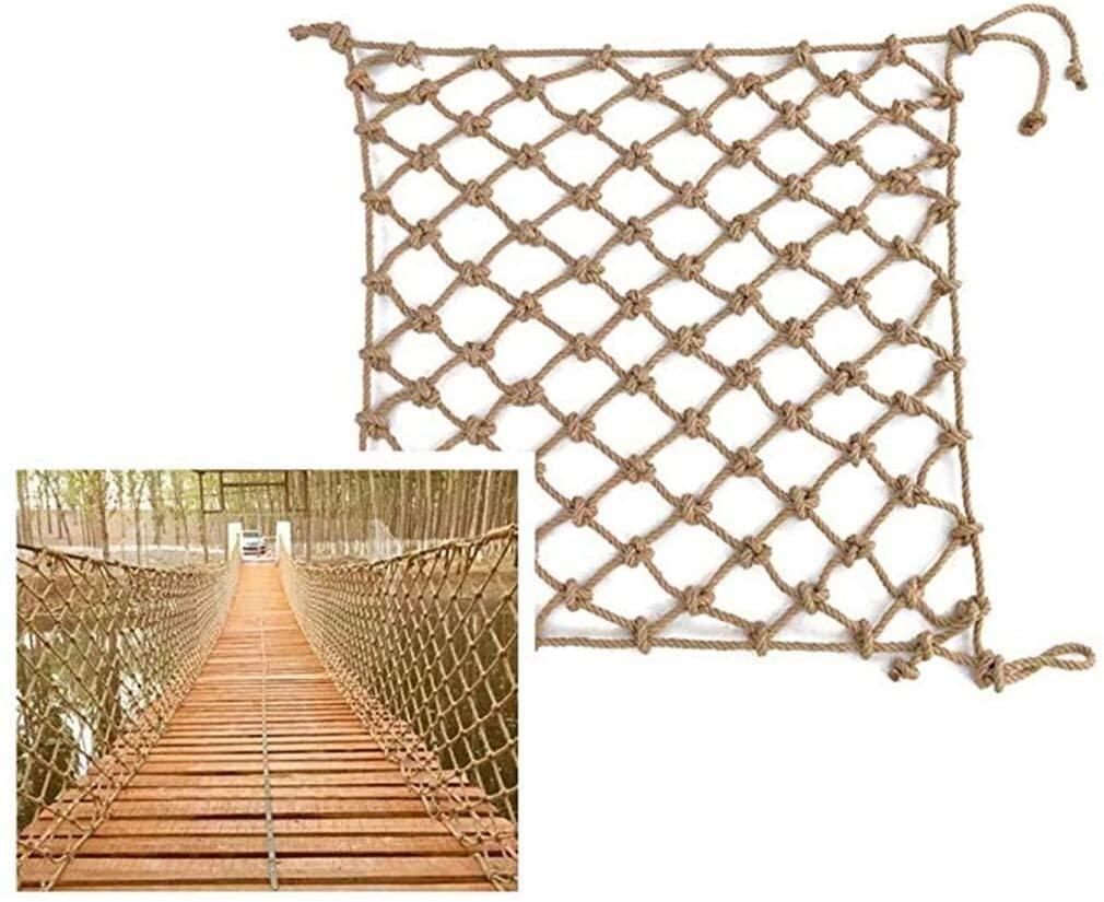 Hemp Net Safety Net Climbing Hemp Rope Net And Hook Hammock Net For Children Ceiling Decoration Cage As Ceiling Net, Decorative Net 0622 (Size : 2x10m)