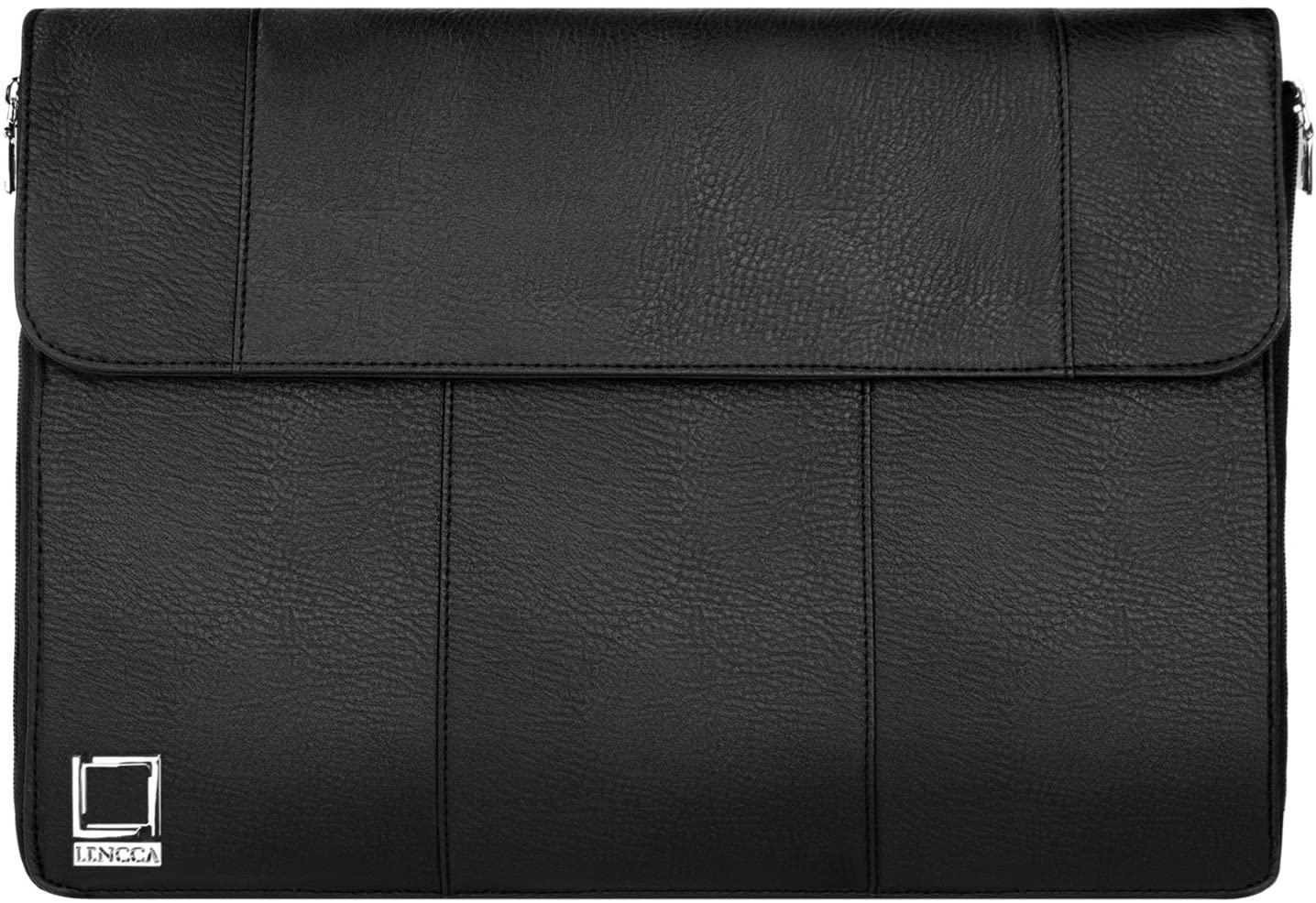 Lencca Axis 15 Slim Compact Laptop Briefcase Crossbody Shoulder Bag for Dell Inspiron 14 15, Latitude 14 15, Precision 15, Precision Mobile Workstation, XPS 15 Series 14, 15.6 inch Laptop