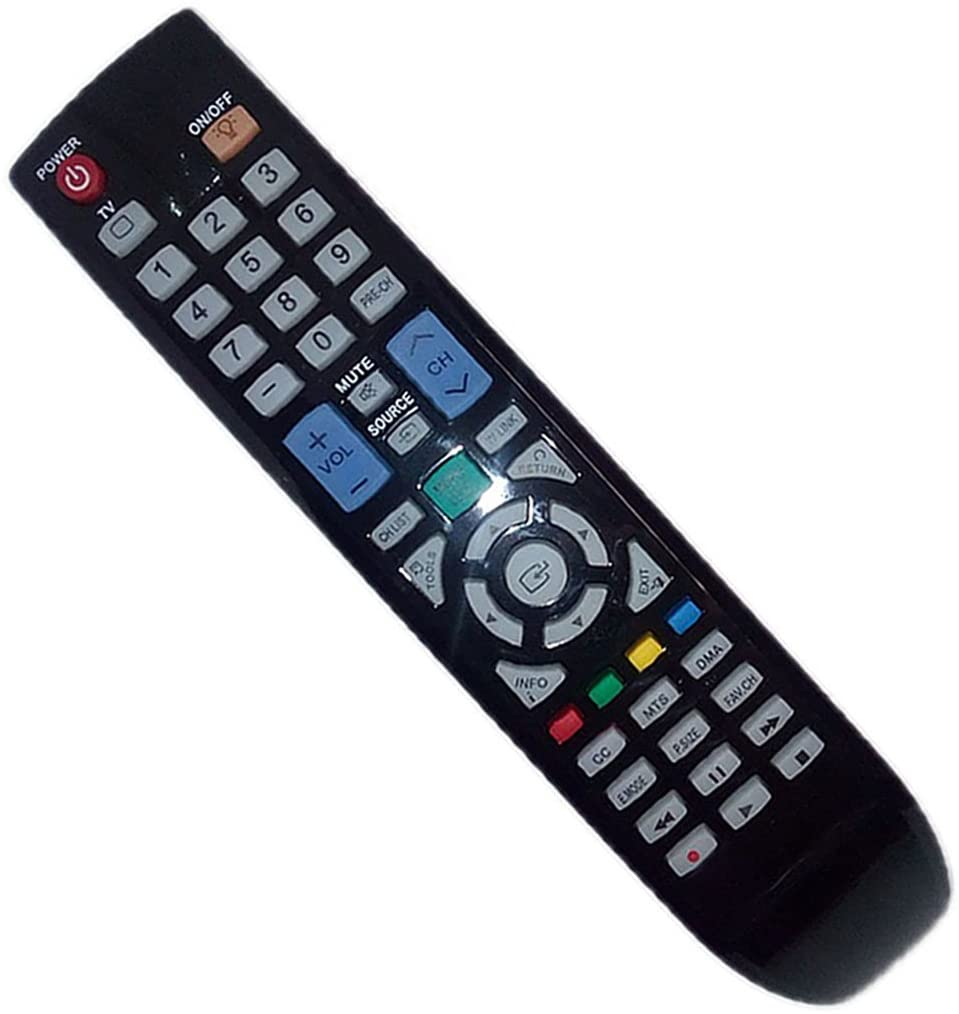 Replaced Remote Control Compatible for Samsung PN50B550T2FXZA LN40A540P2F PN63A650T1F PN50A760T1FXZA UN46B6000VFXSR PL50B450B1D TV