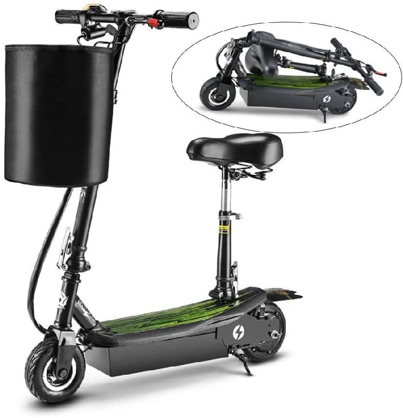 CHENJIU Folding Electric Scooter, Speed 25km / H LCD Display, 7-inch Tires, Adult Teen Commute, Portable Electric Scooter