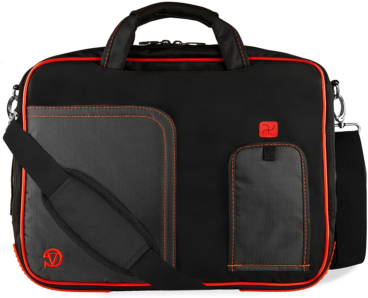 Red 17.3 inch Laptop Messenger Bag for Razer Blade Pro, AOC 17 inch Portable Monitor, Samsung Galaxy View2