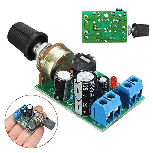 1PC LM386 Audio Power Amplifier Board DC 3V~12V 5v Mini AMP Module Adjustable Volume Integrated Circuits