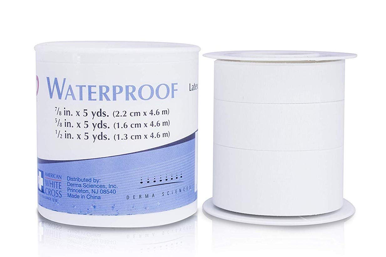 American White Cross Waterproof Tape, Non-Sterile 2